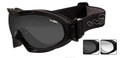 Wiley-X GOGGLES NERVE, Smoke Grey - Clear/Matte Black, NSN: 4240-01-544-4259