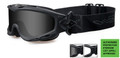 Wiley-X GOGGLES SPEAR, Smoke Grey - Clear/Matte Black, NSN: 4240-01-600-1785