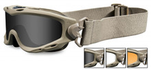 dd74fee5a Wiley-X GOGGLES SPEAR, Smoke Grey - Clear - Light Rust/Tan, P/N ...