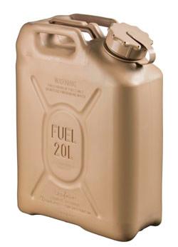 Fuel Can Plastic 5 Gallon Tan Nsn 7240 01 337 5268