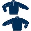 Job Shirt with Reflective Piping, Navy, Size Large, 88SS00NA-LG