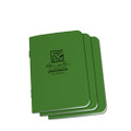 RITE IN THE RAIN 971FX-M (STAPLED MINI-NOTEBOOK - UNIVERSAL - GREEN - 3 PACK)