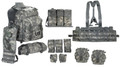 MOLLE Core Rifleman Set, NSN 8465-01-583-6442, ACU Pattern (UCP) (version with Tactical Assault Panel)