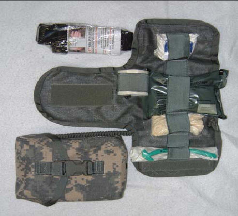 U S  Army Improved First Aid Kit (IFAK), NSN 6545-01-530-0929, ACU Pattern