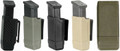 Blackhawk: Single Mag Case - Double Row - Matte Finish (410600PBK, 410600PFG, 410600POD) (NSN: 8465-01-529-7485)
