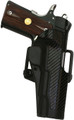 Blackhawk: Standard CQC Holster w/ BL & Paddle - Left - w/Carbon Fiber Finish (415000BK-L, 415001BK-L, 415002BK-L)