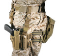 Blackhawk: Serpa Tactical Level 2 Holster, Coyote Tan (Left Hand Draw), US Marine Corps Medallion (430504CT-L-USMC)