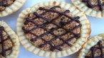Chocolate Drizzled Hazelnut Maple Tarts