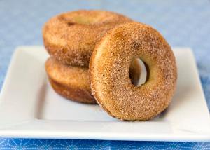 Maple Cinnamon Sugar Donuts