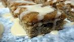 Maple Walnut Brownies with Maple Glaze