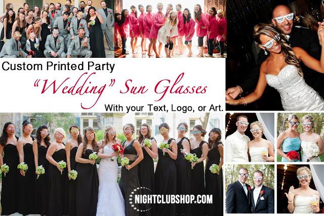 WEDDING - WEDDING CUSTOM SUN GLASSES - NightclubShop.com