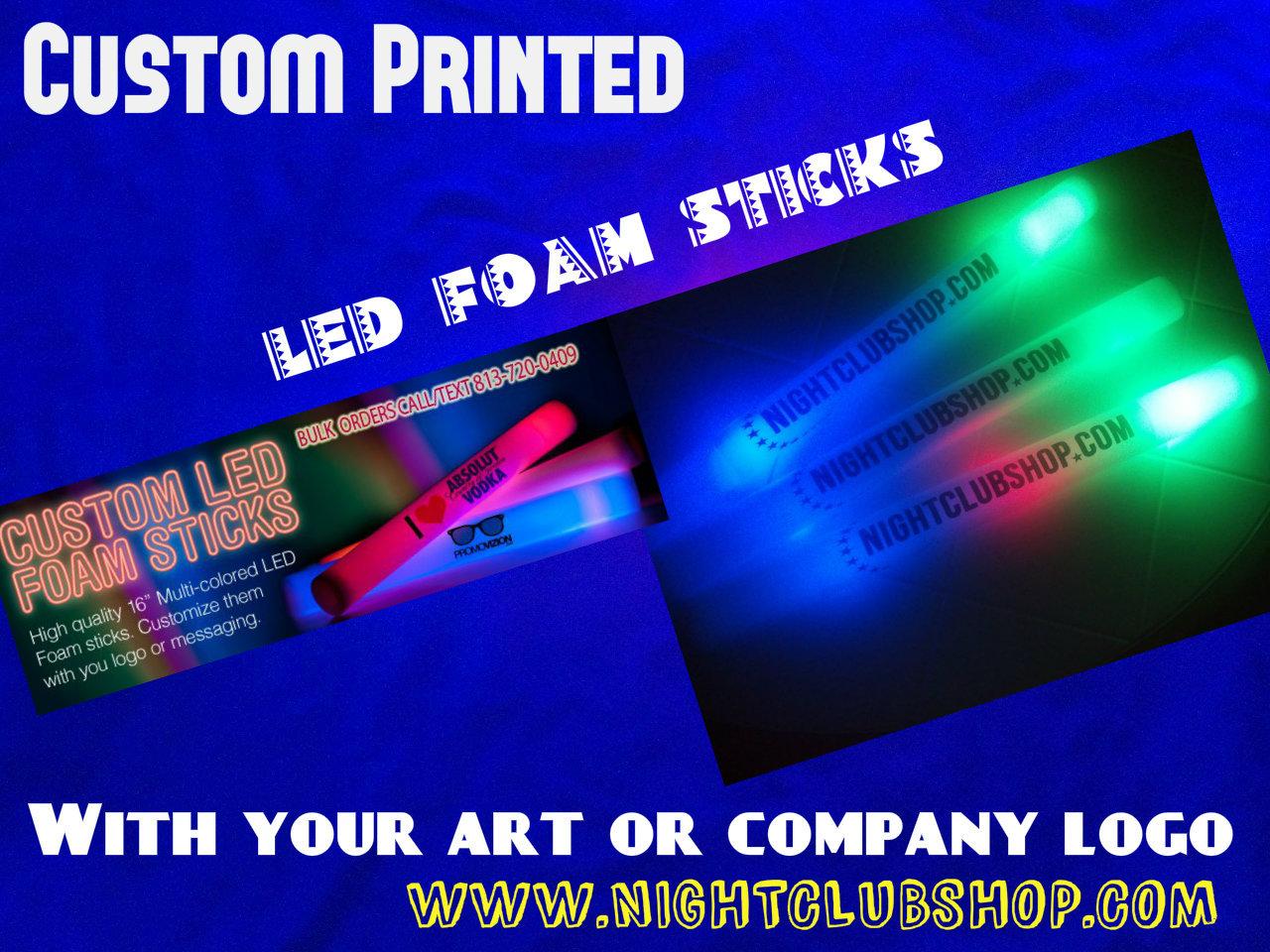 Wedding Custom Led Foam Sticks 16 Inch High Quality 7 Function Noodles Stick