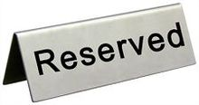 """Cal-Mil 500 - Card Stock Reserved Sign - 4-1/2"""" W x 3-1/2 ...  
