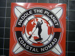 Paddle the Planet sticker {red}