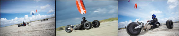 HQ Beamer Power Kite on a Buggy