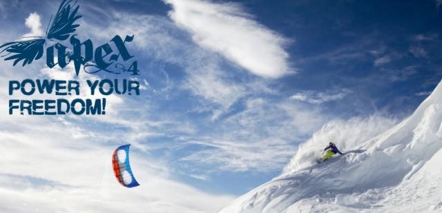 HQ Apex IV Snowkiting Jump