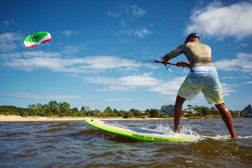 Using a Hydra II Trainer Kite to Paddle Board