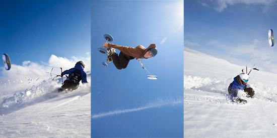 HQ Montana 7 Snowkiting Jump