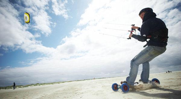 HQ Scout Power Kite on a Landboard