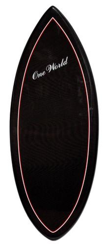 One World 54 Inch Carbonfiber Skimboard