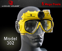 Liquid Image Explorer 302 Digital Camera Swim Mask w/ Light