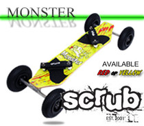 Monster SCRUB LANDBOARD YELLOW Also Available in Red
