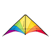 HQ Delta Hawk Rainbow Stunt Kite Flying
