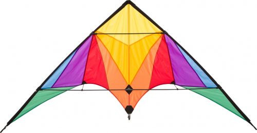 HQ Trigger Eco Line Stunt Kite with Rainbow Design
