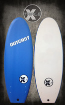 "Triple X Blue Outcast 4' 11"" Soft Top Surfboard"