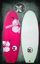 Outcast Black Ball Soft Top Surfboard Pink