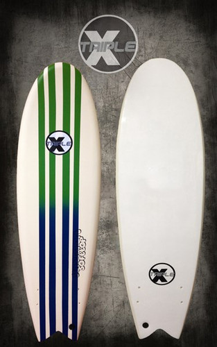 Pin Stripe Soft Top Fish Surfboard