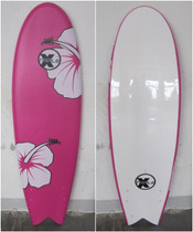 """Pink Hibiscus"" Soft Top Fish Surfboard"