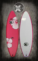 Pink Hibiscus Soft Top Surfboard