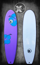 Purple and Blue Hibiscus Soft Top Surfboard