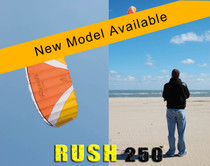 HQ Rush III 250 Trainer Kite in action and close up of kite profile while flying. THIS COULD BE YOU FLYING THIS!