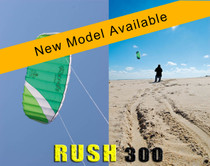 HQ Rush III 300 Trainer Kite in action and close up of kite profile while flying. THIS COULD BE YOU FLYING THIS!