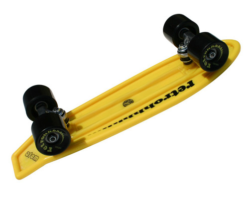 "Atom 21"" Mini Retroh Molded Skateboard - Yellow Bottom"