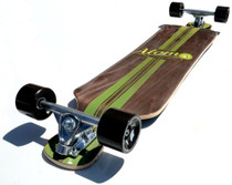 "Atom 39"" Drop Deck Longboard l Artisan Brown Bottom"