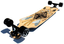 "Atom 39"" Bamboo Drop Deck Longboard l Tiki Bottom"