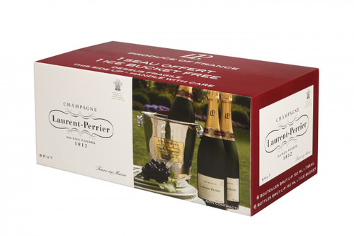 Laurent Perrier Brut Six Bottle Case with Ice Bucket