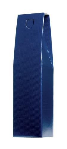 Wine Gift Box Single Bottle Blue Design