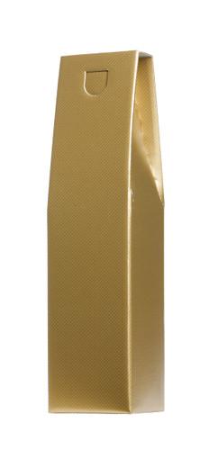 Wine Gift Box Single Bottle Gold Design