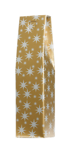 Wine Gift Box, Single Bottle Gold Star Design