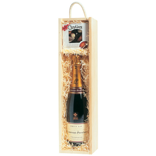 Bottle and Gift Wooden Gift Box