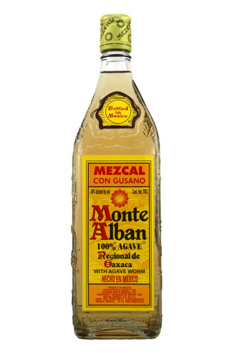 Monte Alban Mezcal with Agave Worm