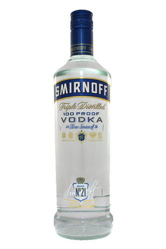 Smirnoff Triple Distilled 100 Proof Blue Label Vodka