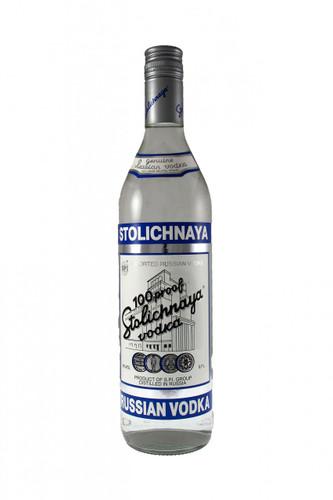 Stolichnaya 100 proof Blue Label Russian Vodka