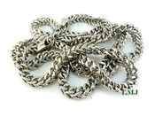 "30"" High-polished Stainless Steel Franco Chain - 6mm"