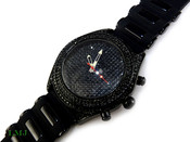 "Black ""Super Fully Loaded Classic"" Watch with silicone band (Clear-Coated Bezel)"