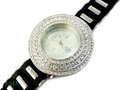 "White ""Breitling inspired 3 Row Bezel"" Watch with silicone band (Clear-Coated Bezel)"